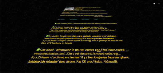 Star Wars : tapez dans google