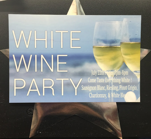 ALL WHITE WINE PARTY TODAY 5PM-8PM!!