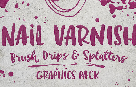 42 Free Nail Varnish Brush, Drips and Splatters Graphics