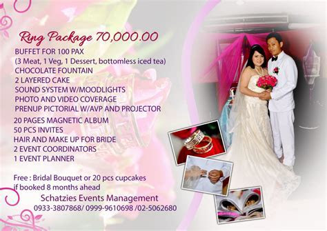 Wedding and Debut Packages Tagaytay or Manila