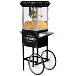 Elite - 48-Cup 8-Oz. Old-Fashioned Popcorn Trolley - Black