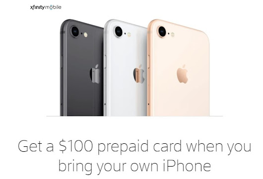 Xfinity Mobile Offering BYOD Customers A $100 Prepaid Refill Card - BestMVNO