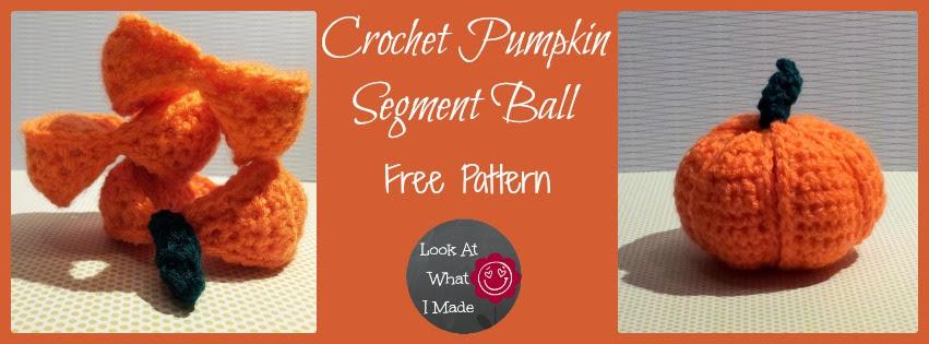Crochet Pumpkin Segment Ball Lookatwhatimade Crochet Pumpkin Segment Ball
