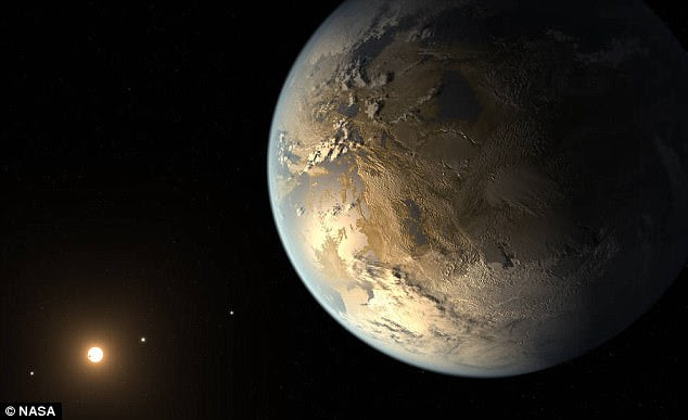 Nasa is set to make a major finding from its planet-hunting Kepler space telescope. The planet-hunting satellite has been working with Google 's AI system. Pictured is an artist's impression of the potentially-habitable exoplanet kepler186f, discovered by Kepler in 2014