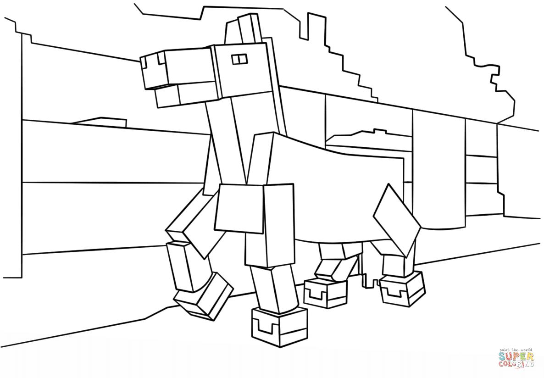 Disegno Di Cavallo Di Minecraft Da Colorare Disegni Da Colorare E