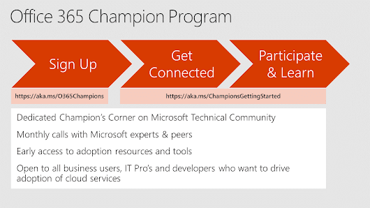 Join our Office 365 Champions Community Call October 17th