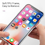 Achoro Case Compatible with iPhone X. Anti-Bursting, Anti-Scratch Protective Luxury Case Compatible with iPhone 10 - Transparent Clear 9H Tempered