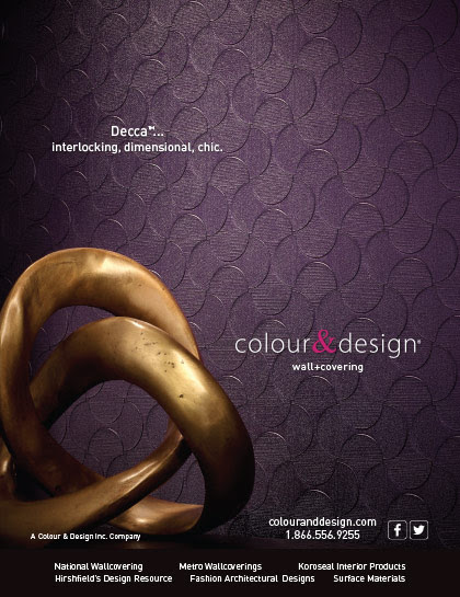 Ad Design - Colour & Design Decca™ Wall Covering | Bcreative