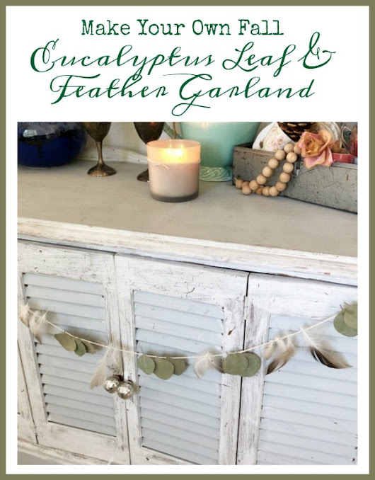 DIY Fall Garland Made With Eucalyptus Leaves and Feathers - What Meegan Makes