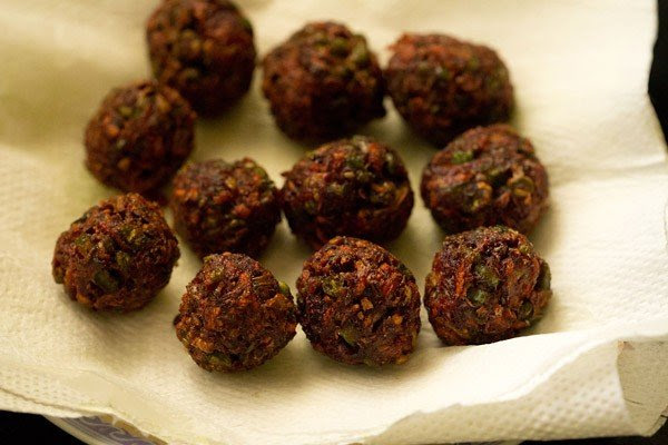 fried vegetable manchurian balls