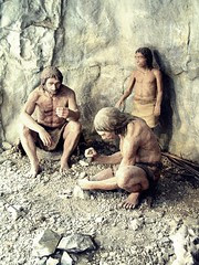 Neanderthal Family (detail of diorama)