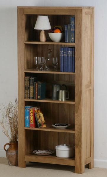 Oakdale Solid Oak Tall Bookcase