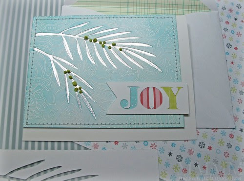 Joy Christmas bough card