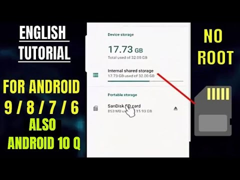 how to move internal storage to sd card android 9 pie