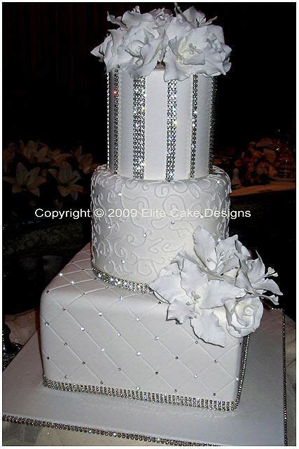 755 best White wedding cakes  images on Pinterest