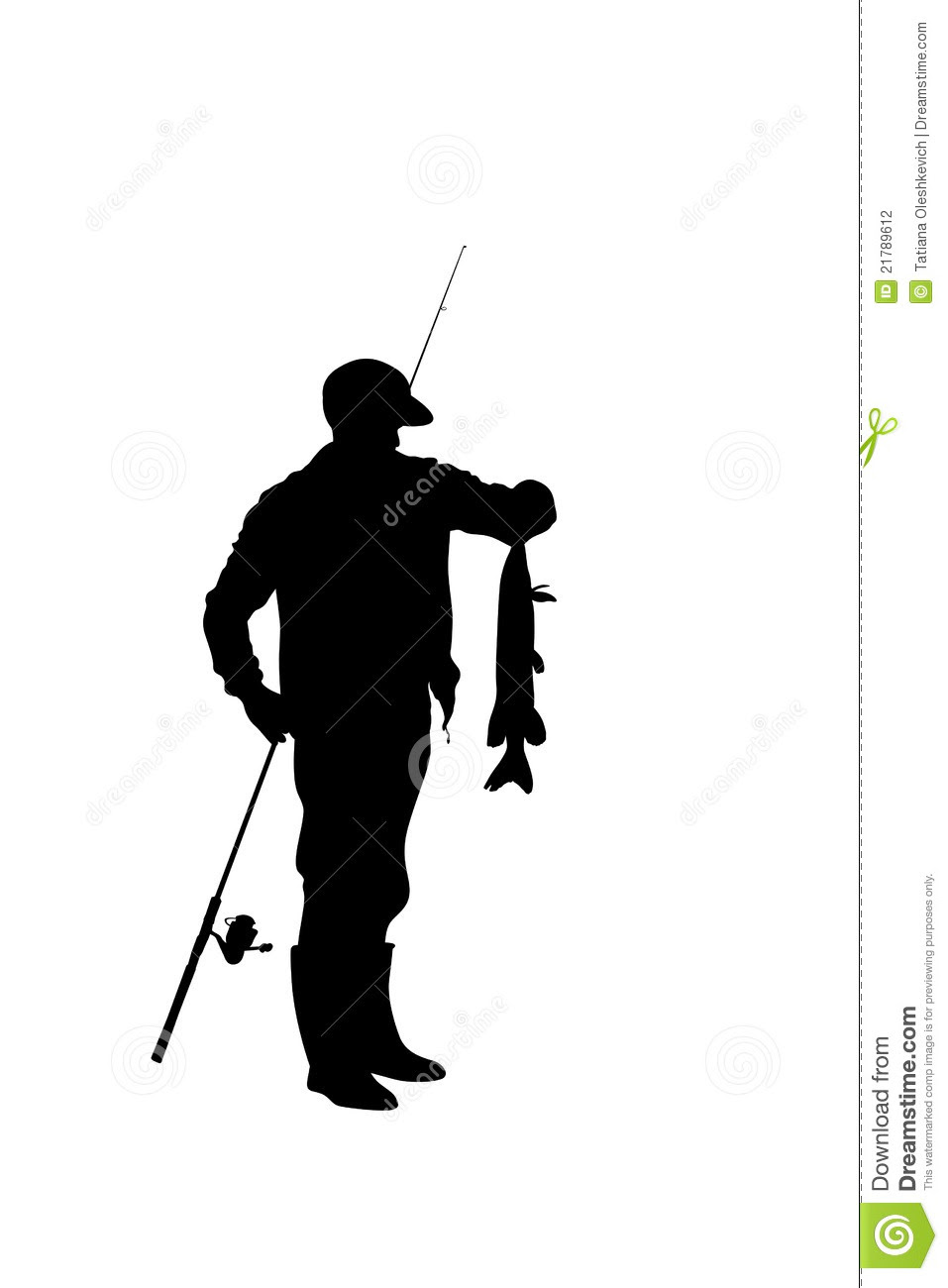 Download Man Fishing Silhouette Clipart Clipart Suggest