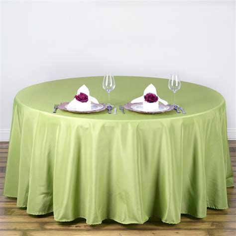 "108"" Round Polyester Tablecloth Wedding Table Linens"