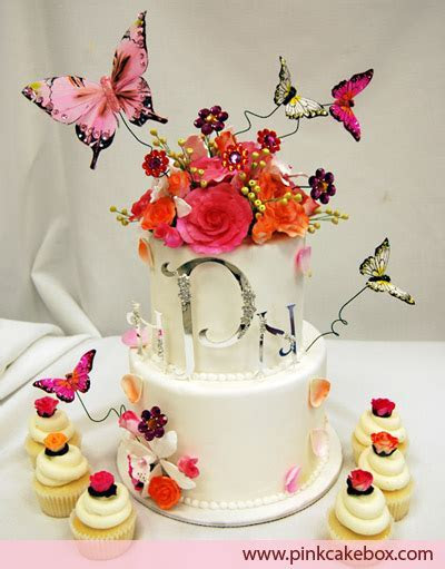 Garden Butterfly Wedding Cupcake Tower » Wedding Cakes