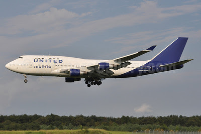 United Charter (United Airlines) Boeing 747-422 N194UA (msn 26892) (Atlas Air colors) BWI (Tony Storck). Image: 909321.