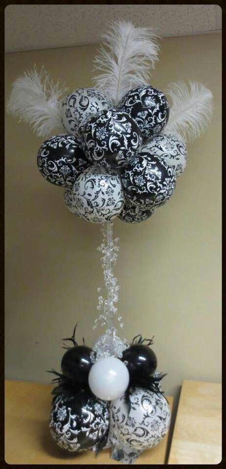 Spiral Spirit Balloon Company ? Balloon topiary  black and