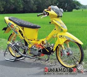 Sketsa Motor Supra X 125