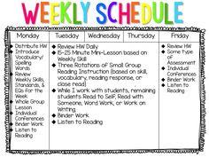Second Grade Daily Schedule | Daily Agenda Calendar