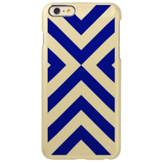 Blue and White Chevrons Incipio Feather® Shine iPhone 6 Plus Case
