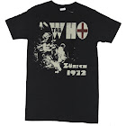 The Who Mens T-Shirt - Zurich 1972 Distressed Rocking Band Image (Small)