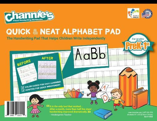 Channie's Quick & Neat Alphabet Pad for PreK - 1st