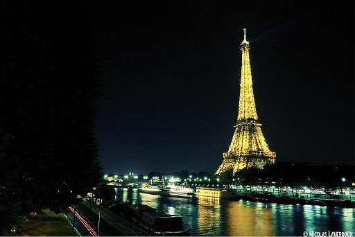 The Eiffel Tower, in Paris