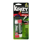 Elmers Instant Krazy Glue, All Purpose - 2 pack, 0.07 oz tubes
