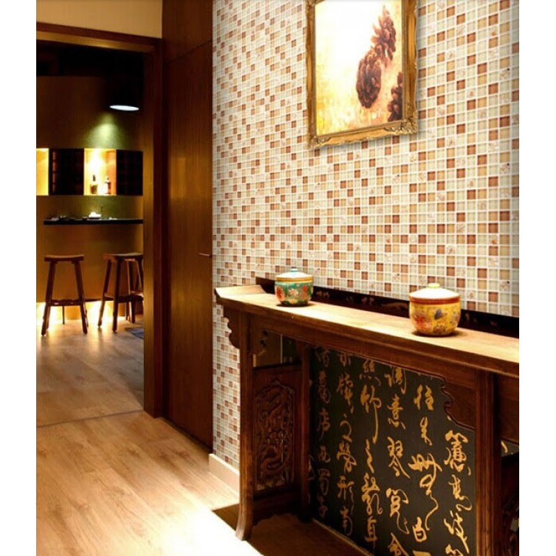 Brown glass tile backsplash ideas for kitchen walls yellow ...
