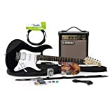 Yamaha Gigmaker Black Electric Guitar Complete Package with 2 Channel Amp (Cable included) and Accesories