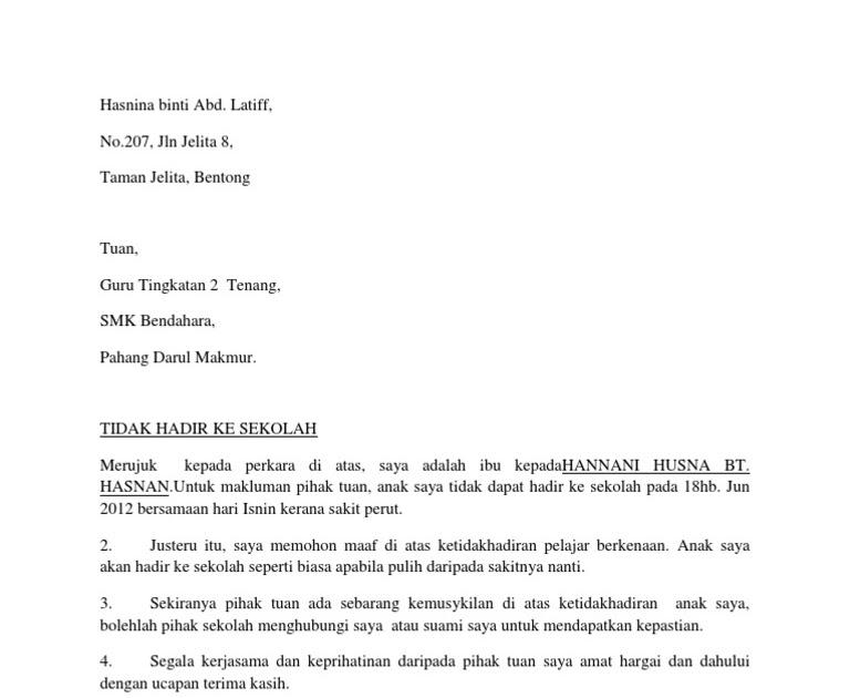 Surat Rasmi Cuti Sekolah Kerana Balik Kampung Selangor Q