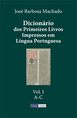 capa do volume I do Dicionário