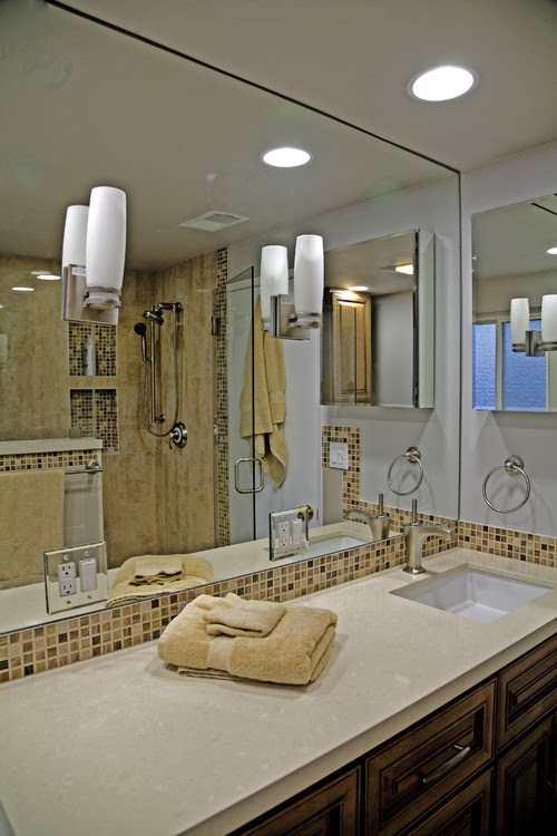 Enlarge A Small Bathroom By Proper Mirror Placement