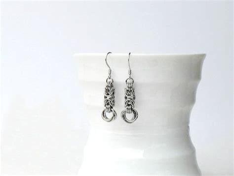 11th Anniversary Stainless Steel Earrings, Anniversary