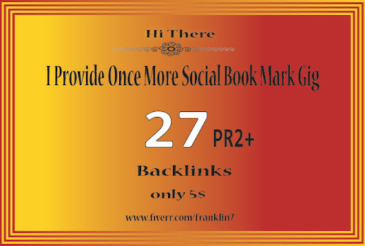 do manually sumbit your site on 27 PR 2 Plus high qulity social book ma