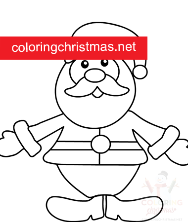 santa claus with open arms printable  coloring christmas