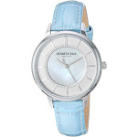 Kenneth Cole New York Female Stainless Steel Quartz Watch with Leather Strap, Light Blue, 13 (Model: KC50860003)
