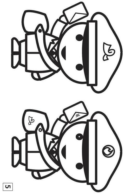 Dibujo Para Colorear Busca Las Diferencias Cartero Img 21554