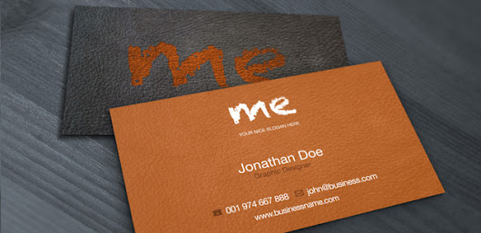Free PSD: Leather Business Card – Free PSD Print Template | Pixel Monarchy
