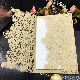 Mint Green Laser Cut Flower Wedding Invitations Card