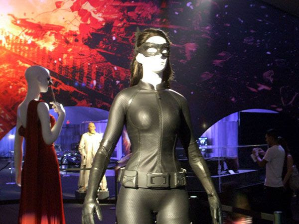 Anne Hathaway's Catwoman outfit from THE DARK KNIGHT RISES, on December 7, 2012.