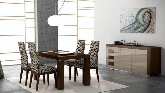 Extendable Wooden Furniture Dining Set - contemporary - dining