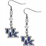 NCAA Kentucky Crystal Dangle Earrings