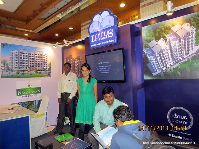 www.lotusgroups.org - Lotus Nandanvan 3 - 1 BHK & 2 BHK Flats at Chikhali & Lotus Laxmi - 2 BHK Flats at Kiwale Ravet PCMC - Pune Property Exhibition, Times Property Expo 'Investment Festival 2013', 23rd & 24th November 2013