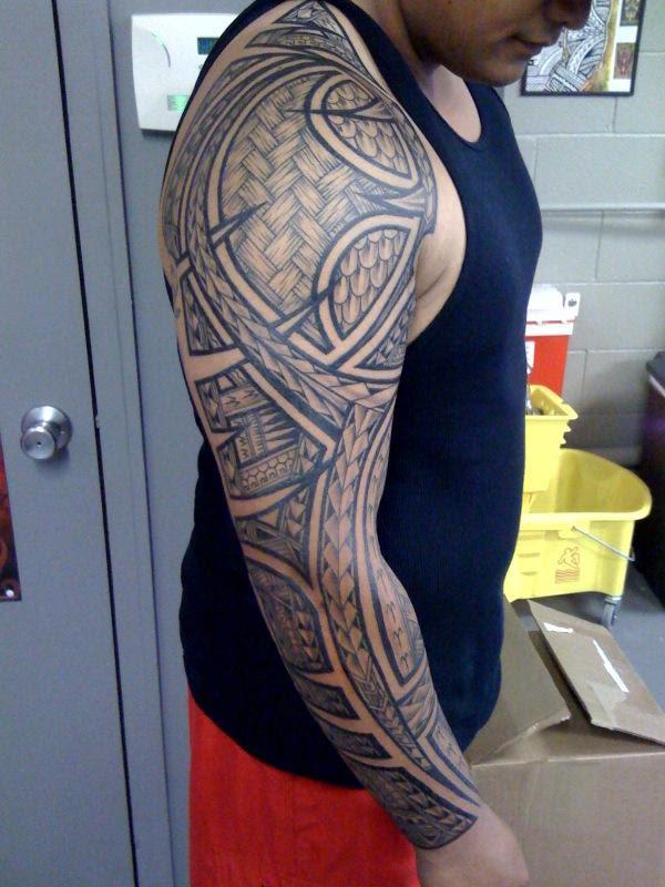 14 Beautiful Full Sleeve Tribal Tattoos