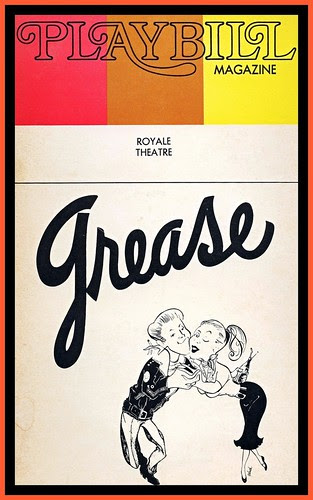 1973 Playbill Grease by mcudeque