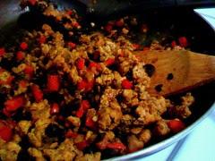turkey and black bean skillet